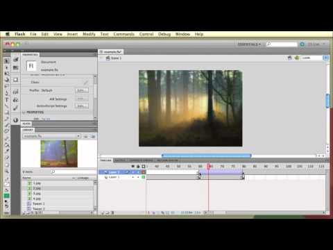 Как создать слайд-шоу в macromedia flash