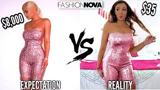 TRYING ON KYLIE JENNER'S OUTFITS FROM FASHION NOVA! | Krazyrayray