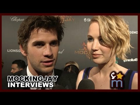 MOCKINGJAY Part 1 Interviews at Cannes - Jennifer Lawrence, Liam Hemsworth