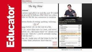 """Latin Terms & Abbreviations""   Advanced English Grammar with Educator.com"