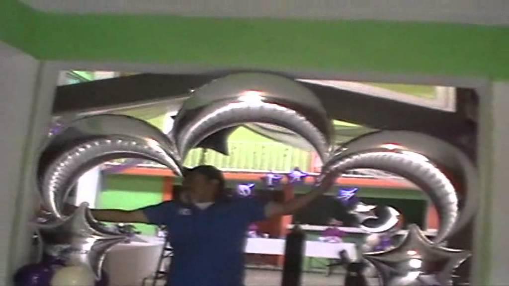 Decoracion con globos para xv a os tips para decorar youtube for Decoracion de globos para 15 anos