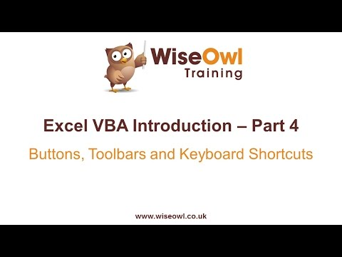 Excel VBA Introduction - Buttons, Toolbars and Keyboard Shortcuts