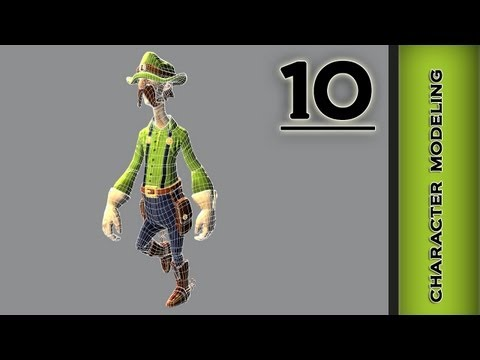 Autodesk Maya 2013 Tutorial - Character Modeling - Hair, Straps  Part 10