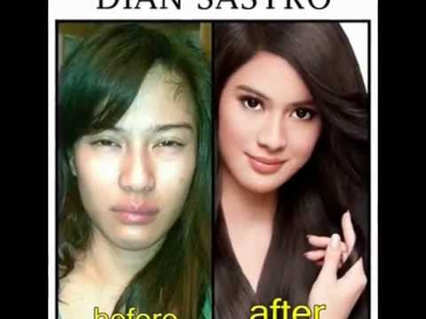 Before & After Make-up Indonesian Artist (female),