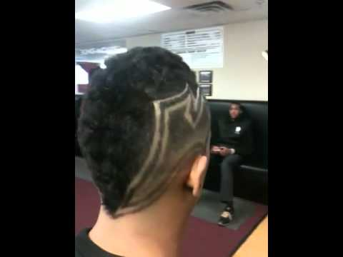 BARBERS FREESTYLE DESIGNS HAIR CUT MOHAWK FADE - YouTube