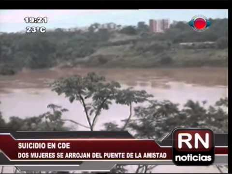 Dos adolescentes se arrojan del Puente de la Amistad 25-06-14