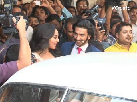 lootera's ranveer singh and sonakshi sinha spotted at liberty theater.