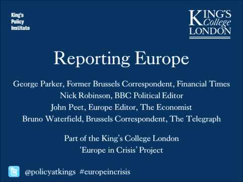 Reporting Europe - four journalists discuss the problems of reporting on the European Union