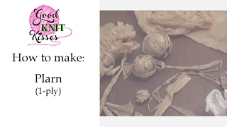 PLarn How To Make Plastic Yarn 1 Ply