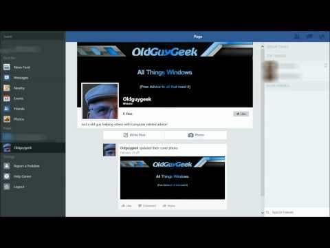 Official Facebook App Now Available (on Windows 8.1)