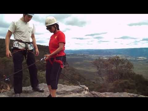 SP Jain Students Enjoy Abseiling in the Blue Mountains