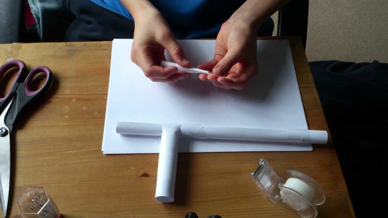 how to make a dart gun out of paper