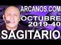 Video Horóscopo Semanal SAGITARIO  del 29 Septiembre al 5 Octubre 2019 (Semana 2019-40) (Lectura del Tarot)