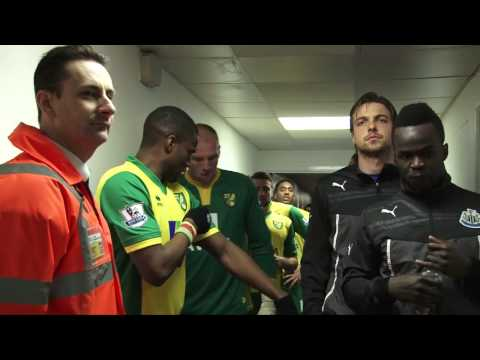 TUNNEL CAM: Norwich City 0-0 Newcastle