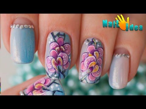 Малахит дизайн ногтей видео