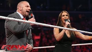 "Triple H & Stephanie lead the WWE Universe in ""Happy Birthday"" to Mr. McMahon: Raw, Aug. 24, 2015"