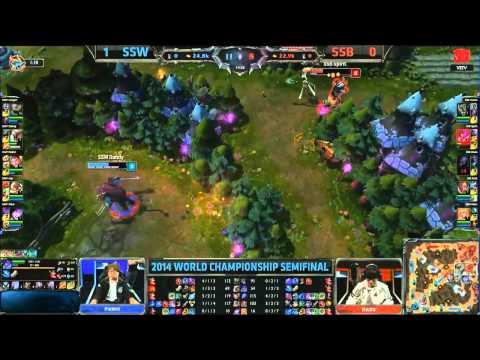 samsung blue vs samsung white Trận 2/ vòng bán kết giải lmht thế giới mùa 4
