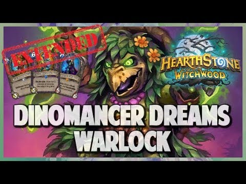 Dinomancer Dreams Warlock | Extended Gameplay | Hearthstone | The Witchwood