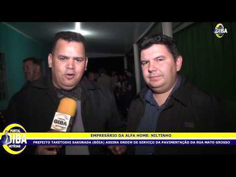 TUNEIRAS RUA MATO GROSSO ASSINATURA DE ORDEM DE SERVIÇO