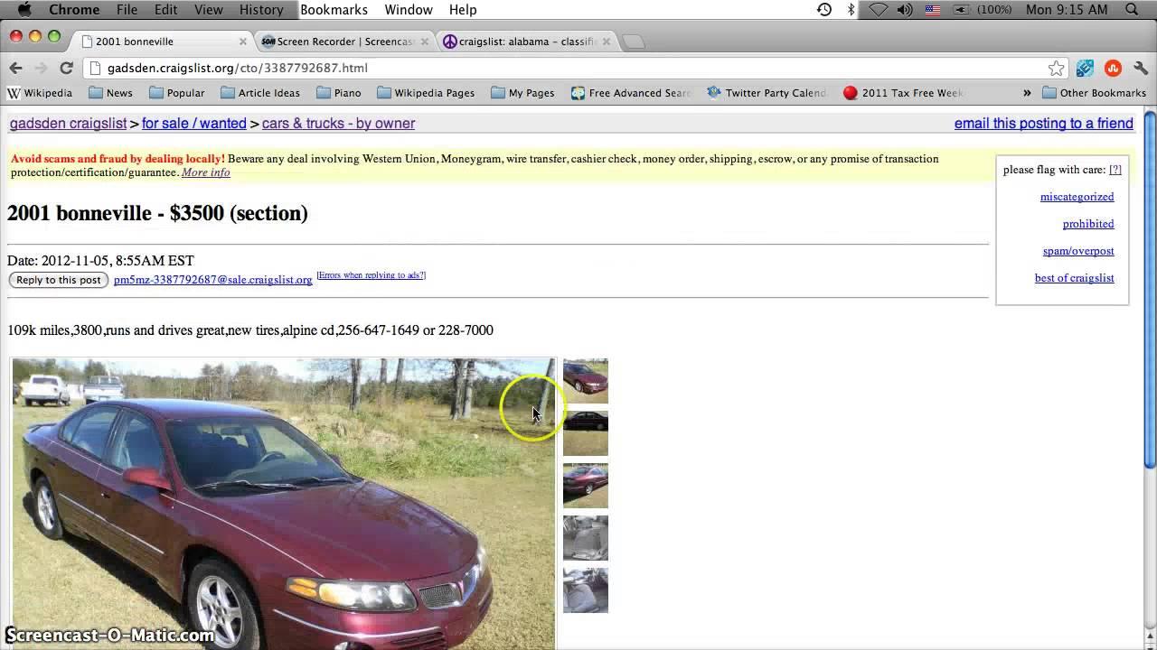 Craigslist gadsden alabama used cars online for sale by owner 1280x720