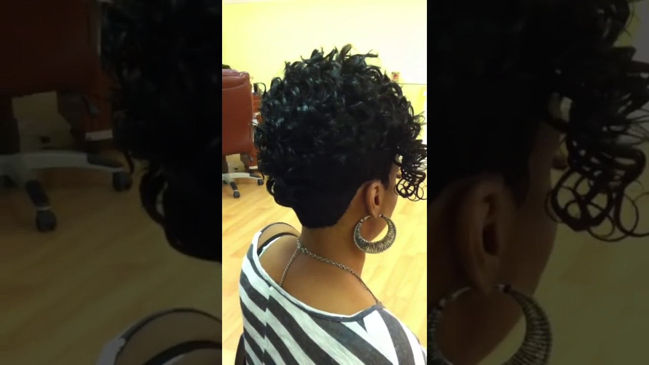 which hairstyle suits me : Short Quick Weave Mohawk Short Hairstyle 2013