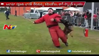 Commandos and Dogs Are Security For Obama in India