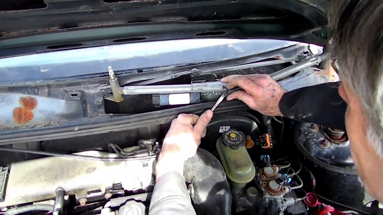 wiper motor location