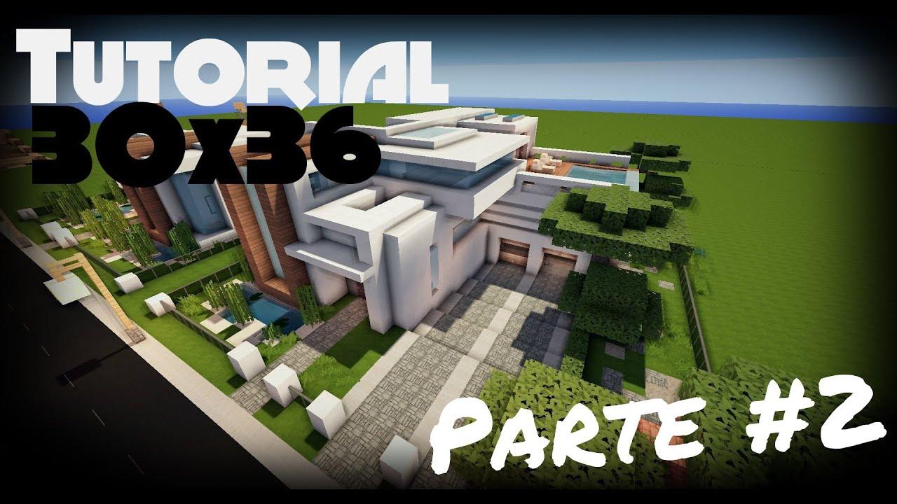 Minecraft como hacer una casa moderna 30x36 6 parte for Eumaster casa moderna 8x8