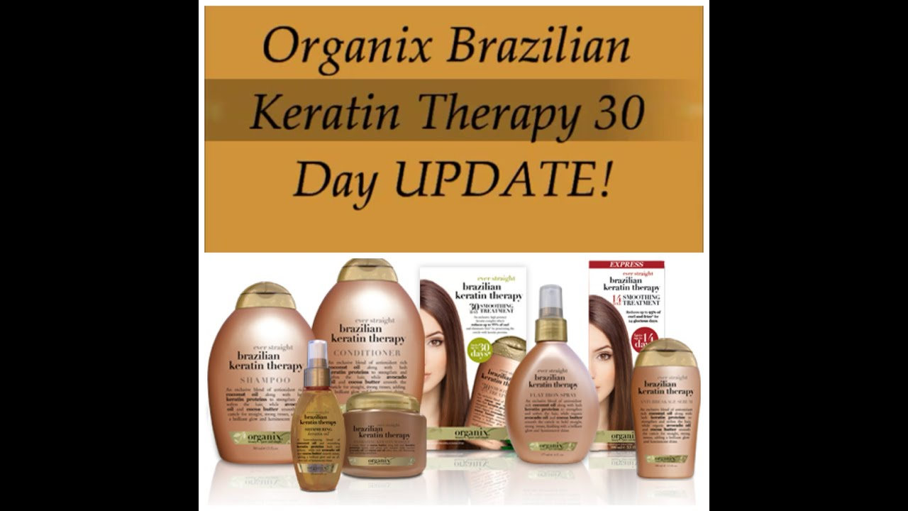 Organix Brazilian Keratin Therapy 30 Day Update on Natural Black Hair! - YouTube