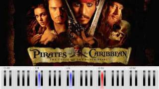 Pirates Of The Caribbean He's A Pirate Piano Tutorial