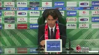 Inzaghi: 'Delusi per il risultato' | AC Milan Official