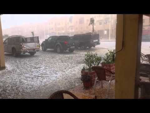عاصفة رعدية قوية في اولاد برحيل