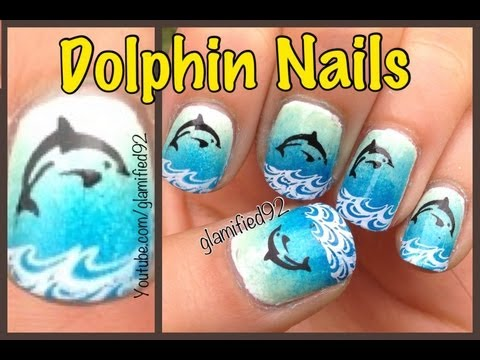 OMBRE DOLPHIN NAILS