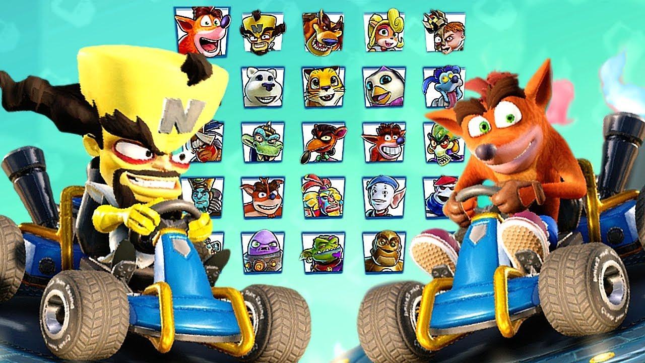 Crash Team Racing Nitro-Fueled All Characters + Penta Penguin (Secret  Character)