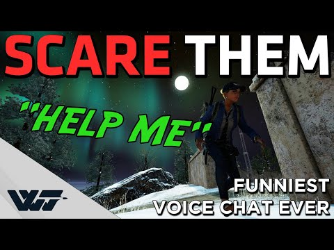 SCARING A TEAM With the FUNNIEST voice chat ever - They freak out! (scary voice changer) - PUBG