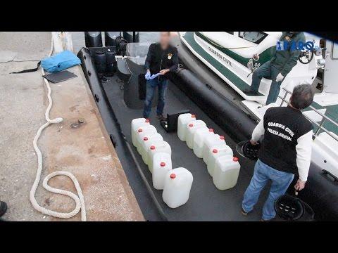 القارب المحمل بالحشيش الذي طاردته دورية أمنية مغربية بسبتة (شاهد الفيديو)