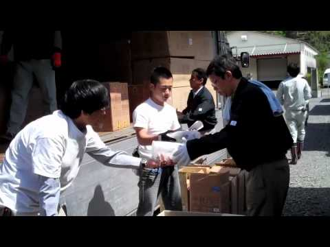 Delivering Household Supplies to Temporary Homes in Japan