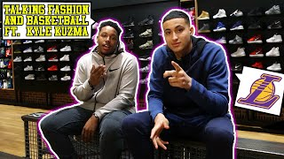 SHOPPING, TALKING FASHION, & BASKETBALL WITH KYLE KUZMA! WHAT IS KYLE'S FAVORITE SNEAKER TO BALL IN?