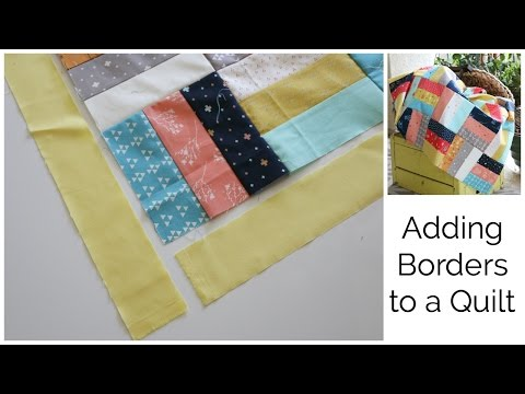 How to Add a Border to a Quilt Top