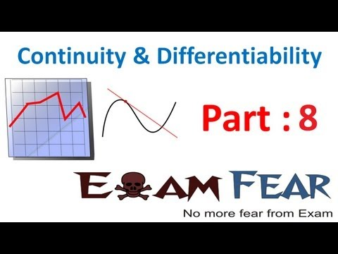 Maths Continuity & Differentiability part 8 (Continuous function) CBSE Mathematics XII 12
