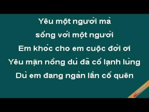 Yêu Một Người Sống Bên Một Người Karaoke - Minh Tuyết - CaoCuongPro