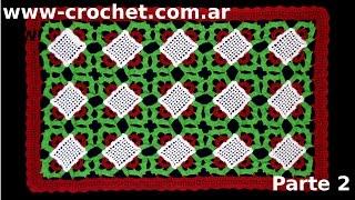 Como Tejer Una Carpeta De Navidad En Tejido Crochet (parte