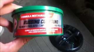 Pulir cristal del parabrisas