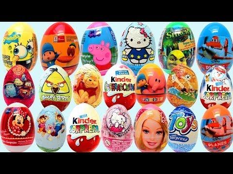 Kinder Surprise Eggs Mickey Mouse Play Doh Surprise Egg Huevo kinder Sorpresa