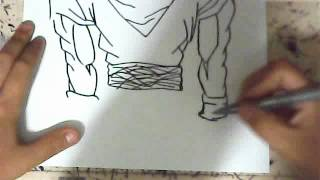 HOW TO DRAW GOKU SUPER SAIYAN 3 FULL BODY
