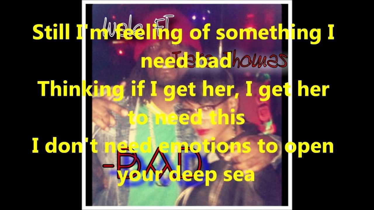 wale bad lyrics - photo #25