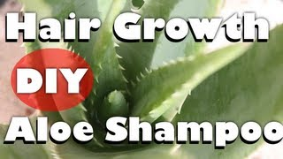 How To Make NATURAL Homemade Aloe Vera Shampoo (to Grow