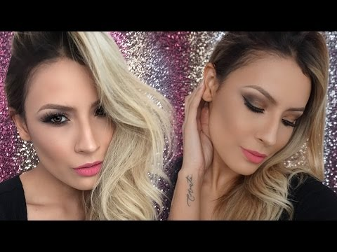 Date Night Makeup (Soft Gold smokey eye Pink lips) - Desi Perkins