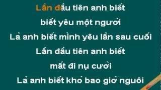 Lan Dau Tien Anh Biet Karaoke - Quang Vinh - CaoCuongPro