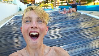 I DUCT TAPE MY POOL!!! (100 Layers Duct Tape Challenge)